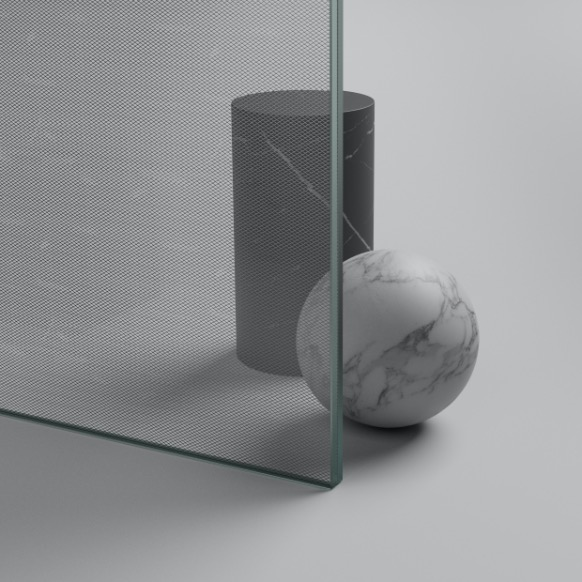 Suite can be customised with silver coloured laminated safety glass